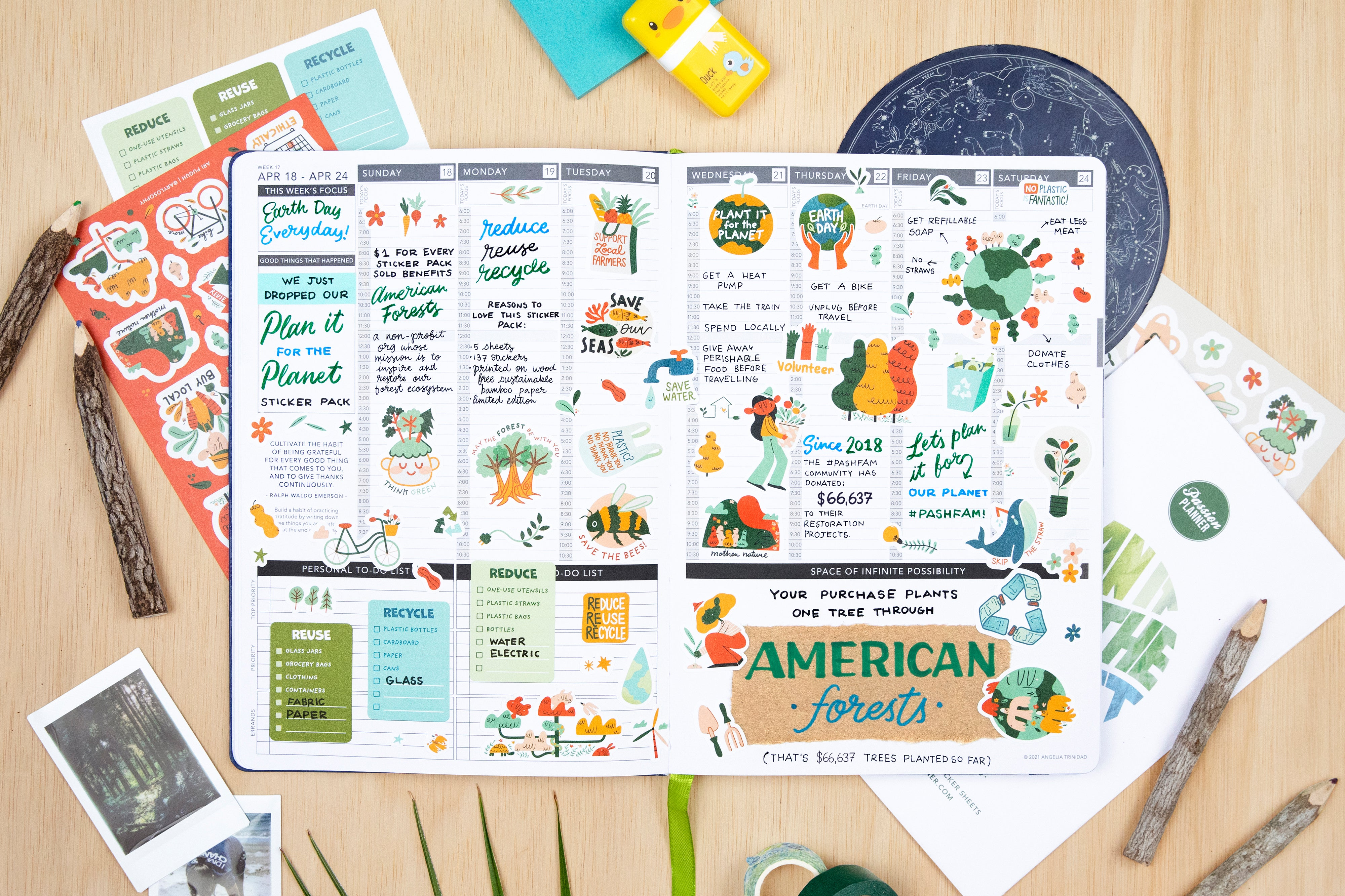 Plan It for the Planet Sticker Pack - Passion Planner