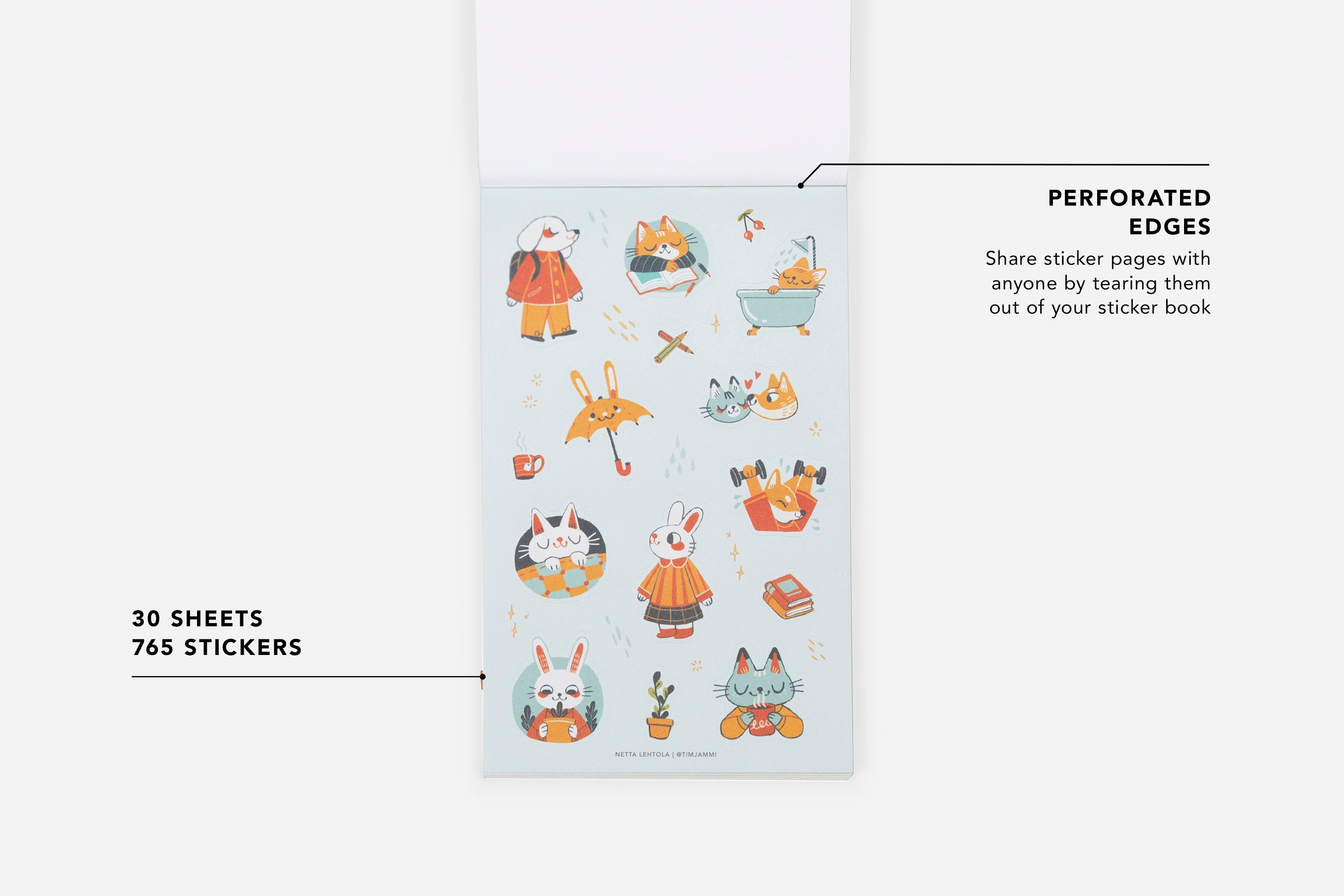 Pawsitive Pals Stickerbook - Passion Planner