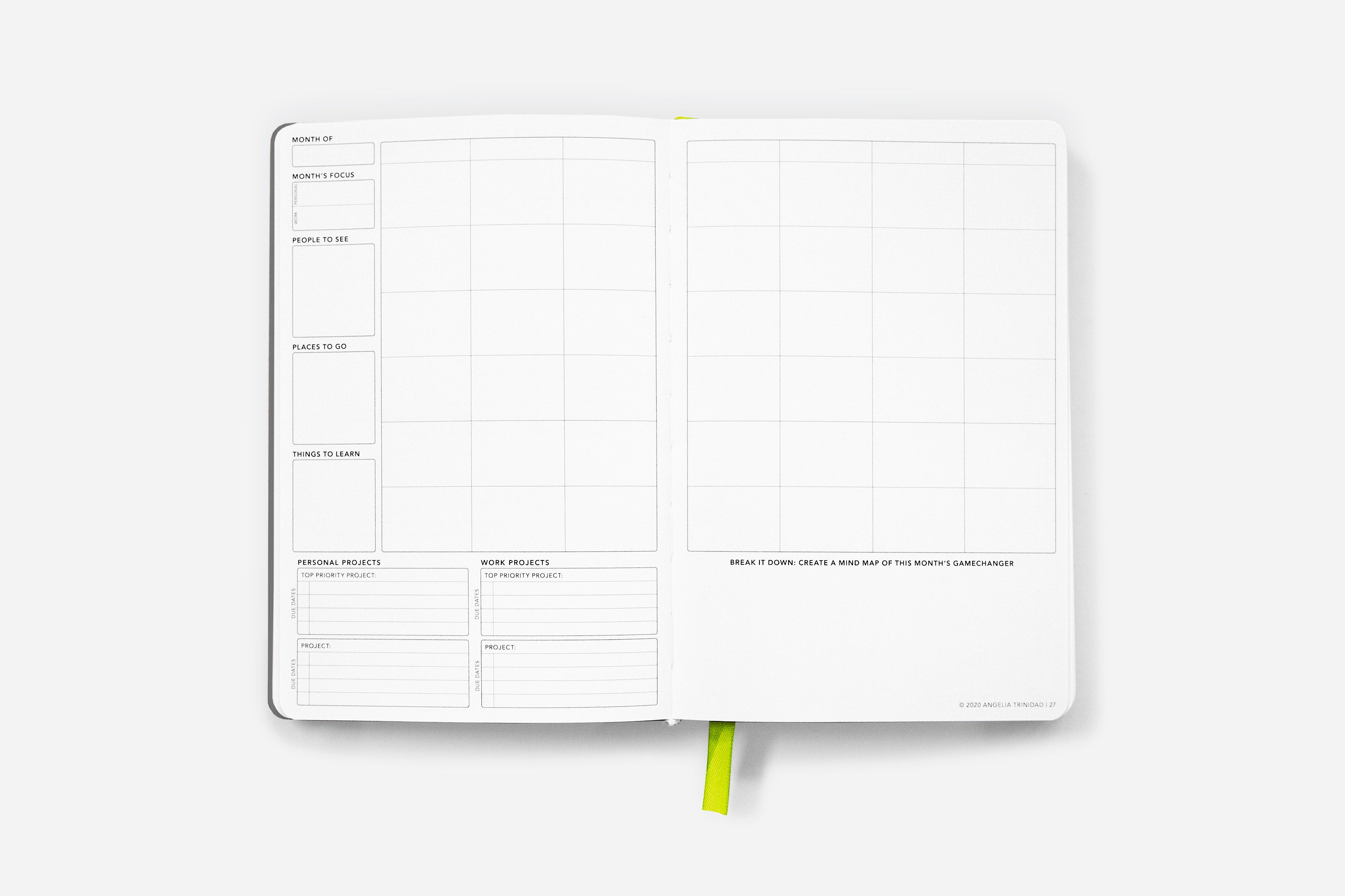Daily Undated Calm Gray - Passion Planner