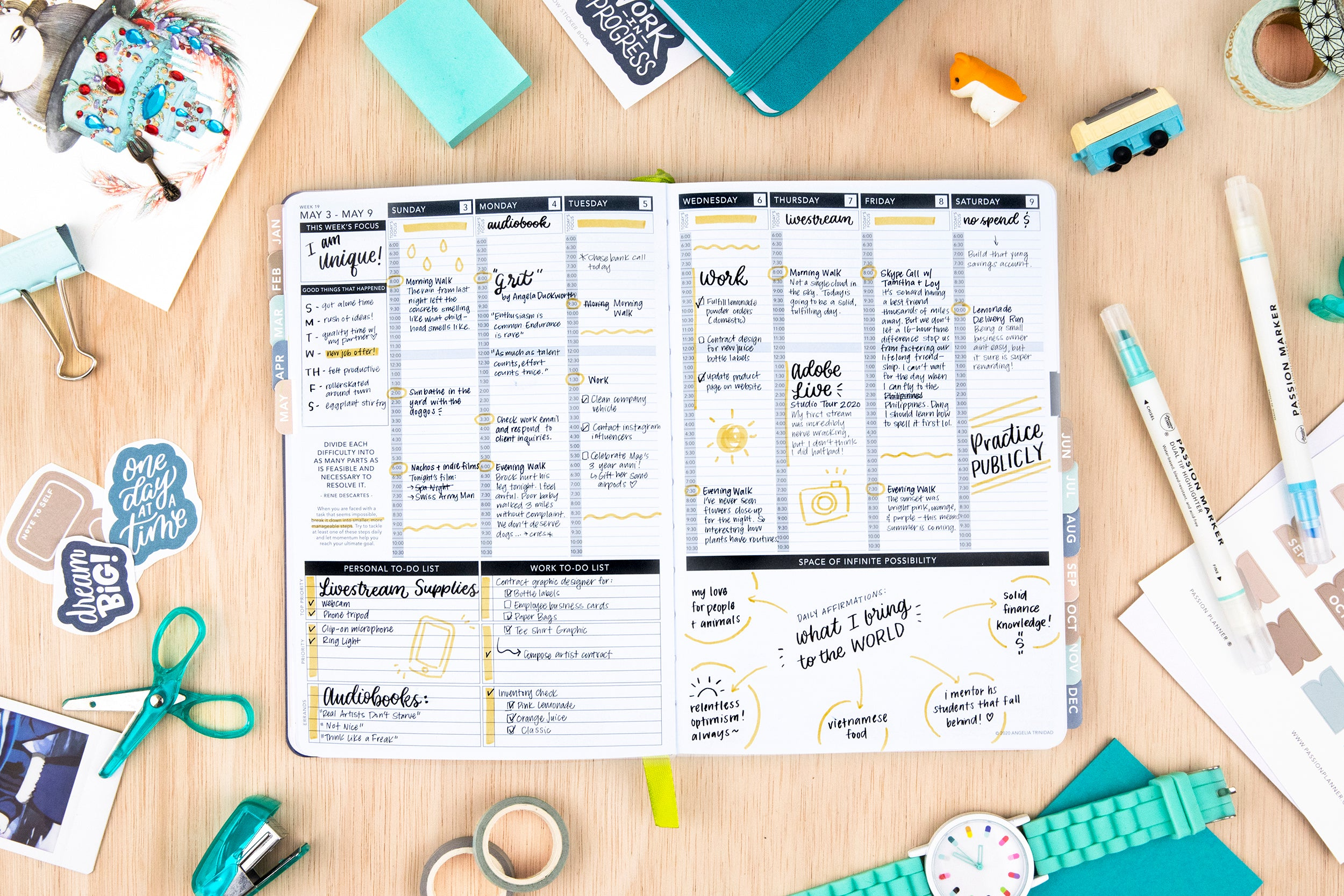 Weekly 2021 Annual Pacific Blue - Passion Planner