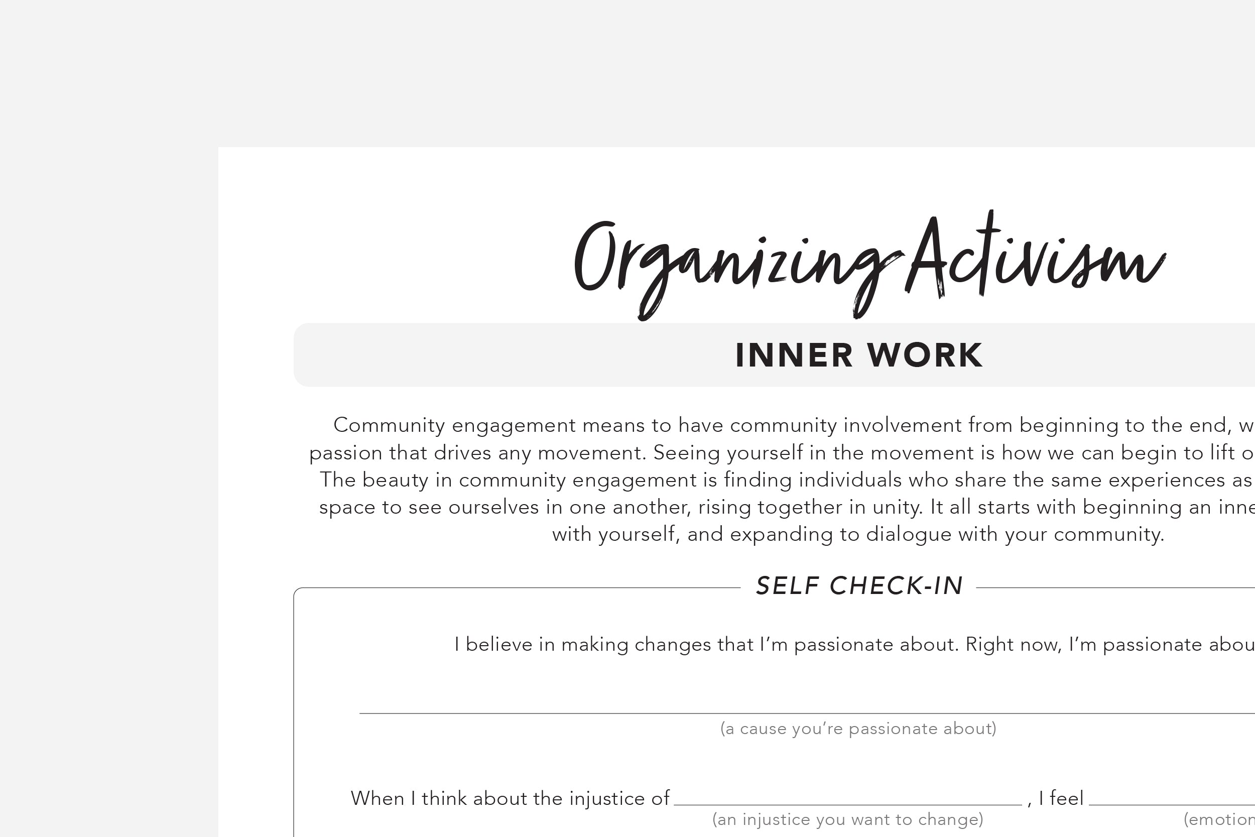 Organizing Activism - Passion Planner