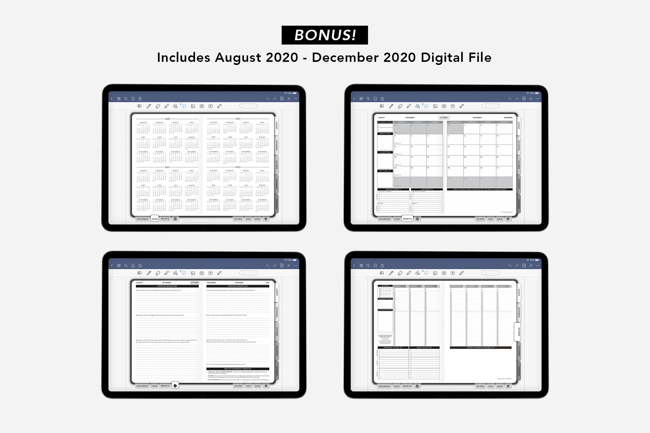 Digital Weekly 2021 Annual Elite Black - Passion Planner