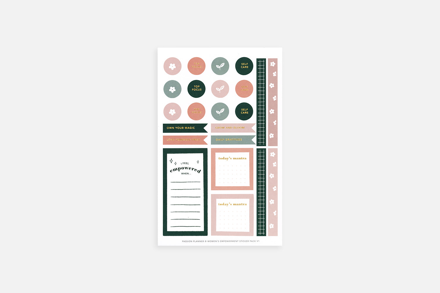 Women's Empowerment Sticker Pack V1 - Passion Planner