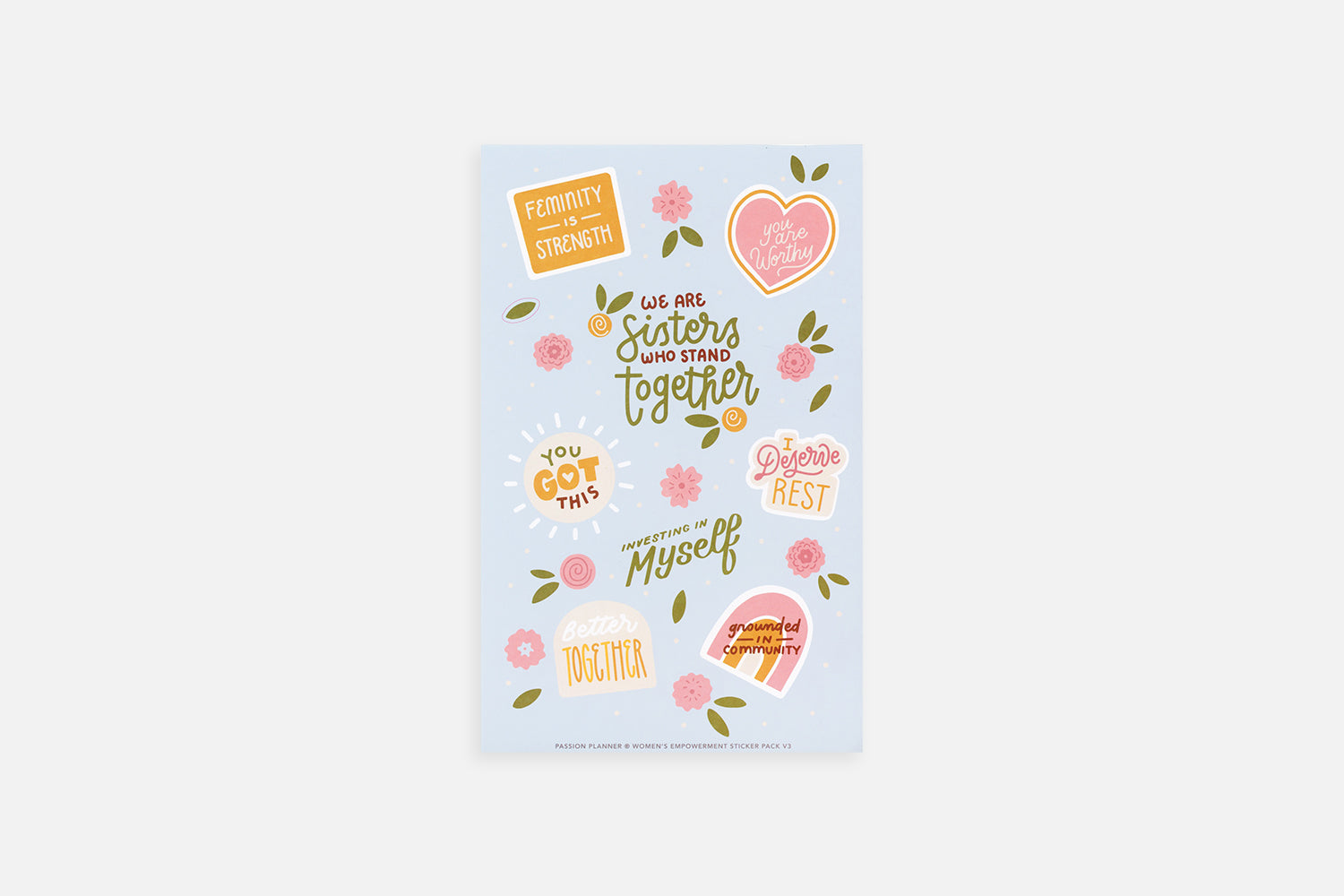 Women's Empowerment Sticker Pack V3 - Passion Planner