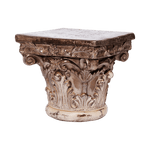 Corinthian Cap Pedestal - Middle Station Furniture