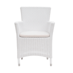 Darryl Armchair – Solid White 2.5mm - Middle Station Furniture