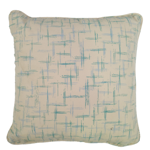 Turquoise Hash Print Outdoor Cushion - Middle Station Furniture