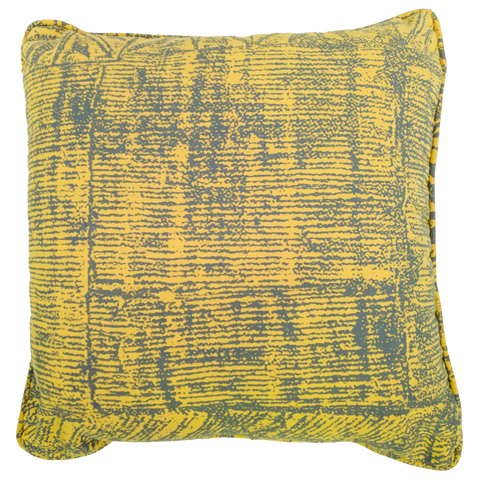 Yellow and Grey Print Outdoor Cushion - Middle Station Furniture