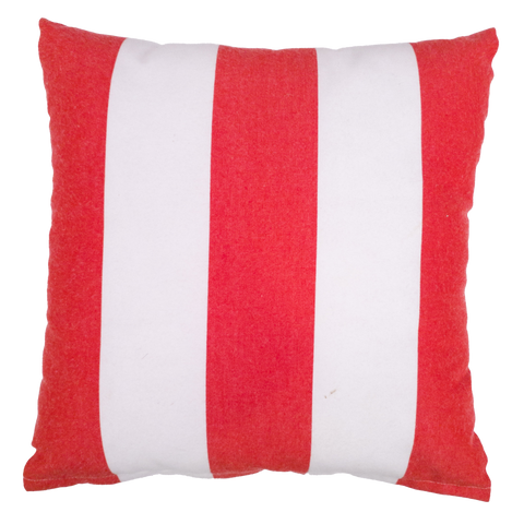 Red and White Strip Print Outdoor Cushion - Middle Station Furniture