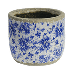 Lilibeth Blue and White Planter – Short - Middle Station Furniture
