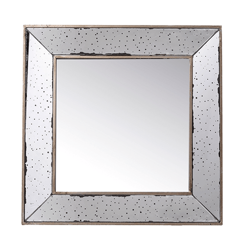 Square Bevel Framed Mirror - Middle Station Furniture