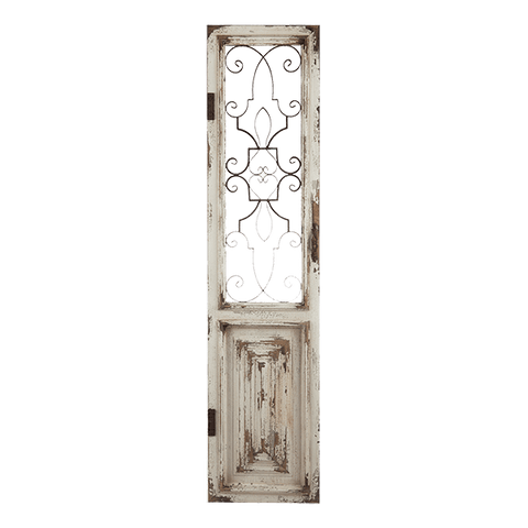 Timber & Wrought Iron Door - Middle Station Furniture