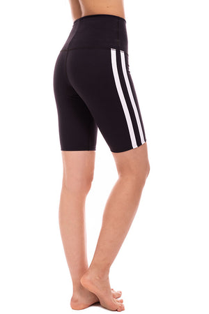 Retro Racer High Rise Biker Shorts