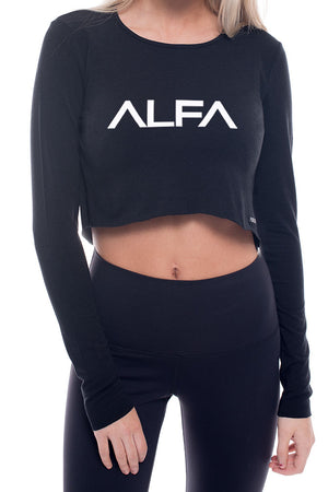 ALFA Bamboo Long Sleeve Crop