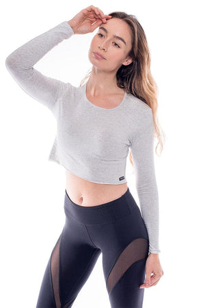 Bamboo Long Sleeve Crop Top