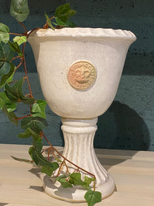 Kew Chalice Vase - Distressed White