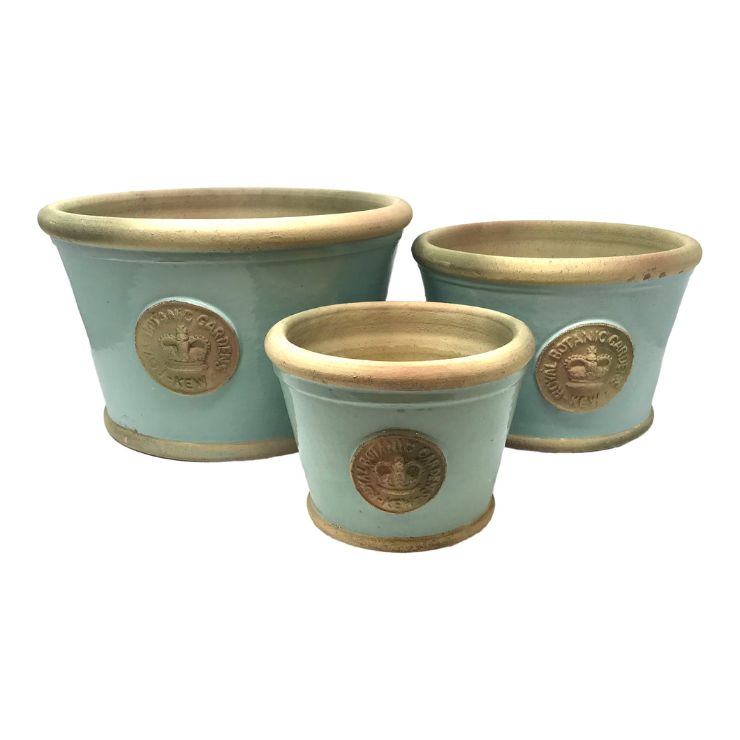 Kew Low Planters - Set of 3 Tiffany