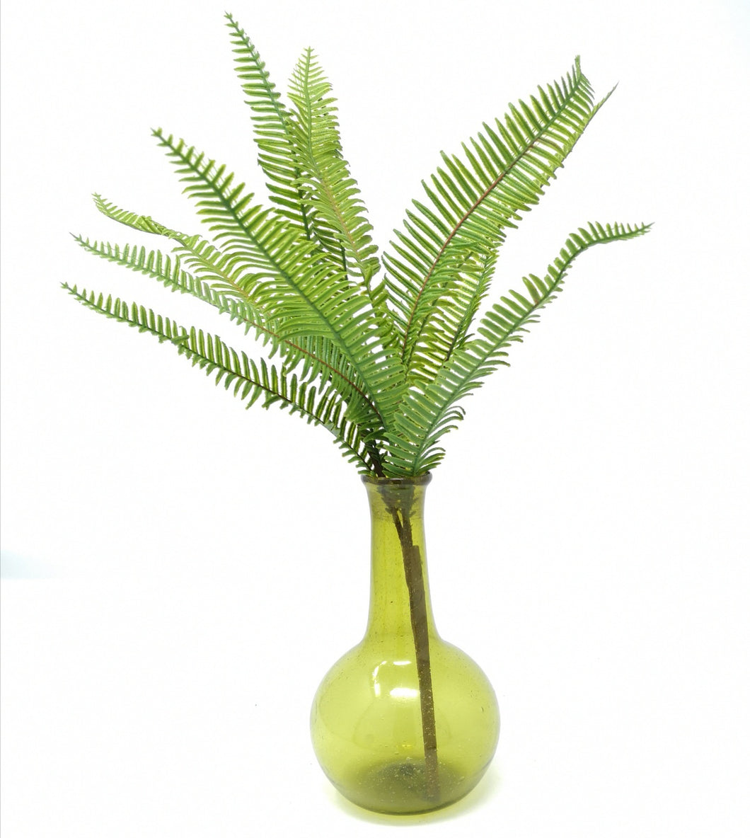 PHARMACY VASE REC.GLASS GREEN PKD 6 £2.90 EA.