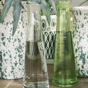 SKINNY VASE REC.GLASS CLEAR PKD 6 £4.56 EA.