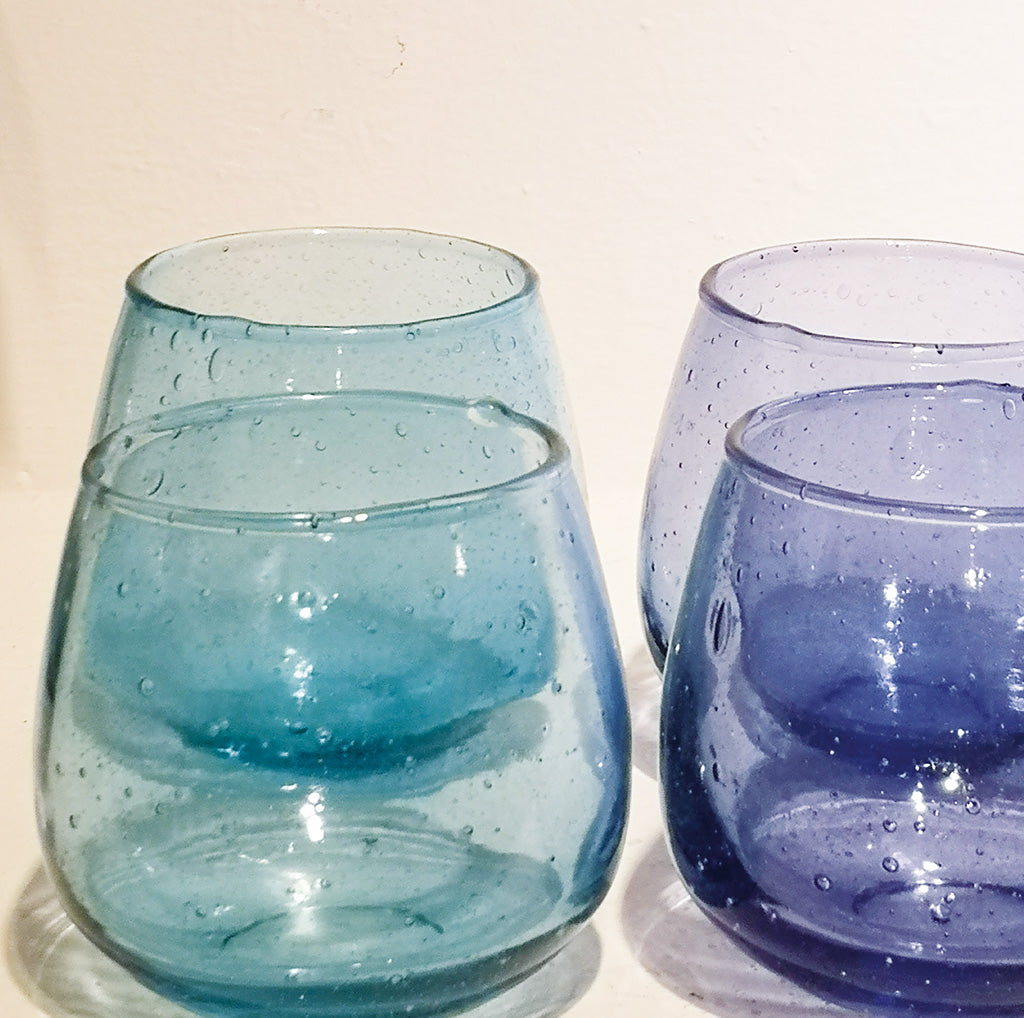 OPTICAL VOTIVE REC.GLASS TURQUOISE PKD 6 £2.06 EA.