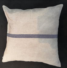 Load image into Gallery viewer, CUSHION VINTAGE LINEN/COT. BLUE STRIPE No1 PKD 2 £12.50 EA.