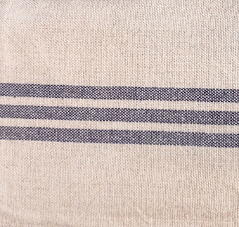 TEA TOWEL VINTAGE LINEN/COT. BLUE STRIPE No4 PKD 3 £3.75 EA.