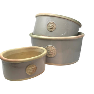 Kew Oval Planters - Set of 3 Almond