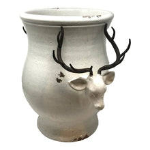 Load image into Gallery viewer, Reindeer Vase Large - Distressed White