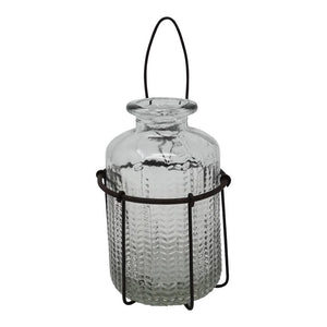 WALL BASKET WITH BOTTLE RUST PKD 6 £3.31 EA.