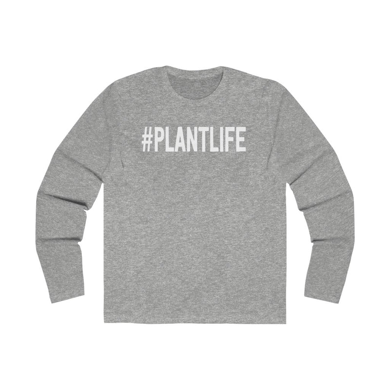 Solid Heather Grey Plant Life Long Sleeve Tee