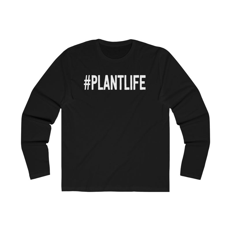 Solid Black Plant Life Long Sleeve Tee