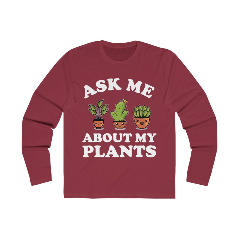 Royal Ask Me About My Plants Long Sleeve Tee