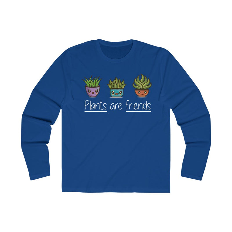 Solid Royal Plants Are Friends Long Sleeve Tee