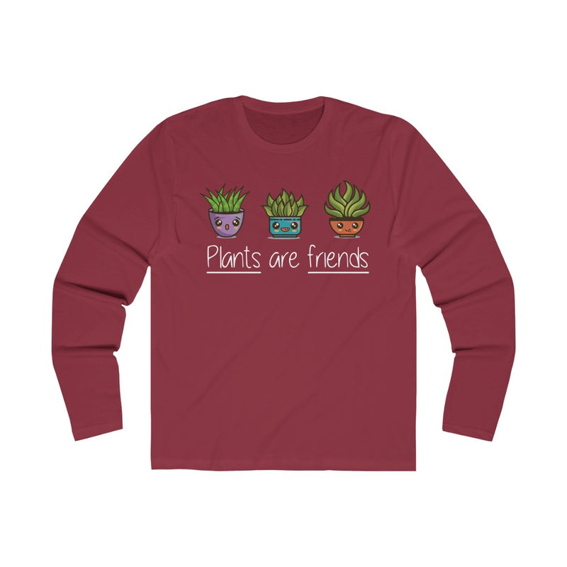 Solid Scarlet Plants Are Friends Long Sleeve Tee