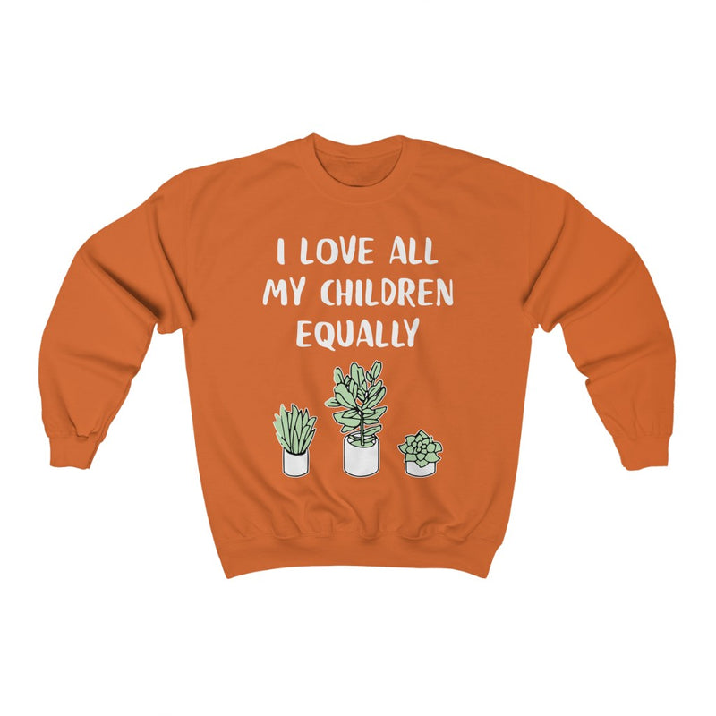 Orange I Love All My Children Equally Sweatshirt