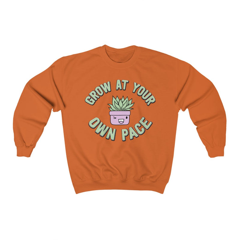Orange Grow At Your Own Pace Sweatshirt