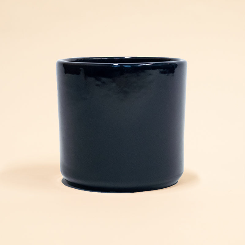 "Cobalt Blue  6.5"" Deep Cylinder Pot"