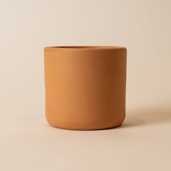 "Terracotta 6.5"" Deep Cylinder Pot"