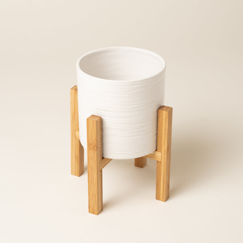 Classic Ceramic With Wooden Stand - Medium