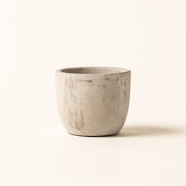 "Mini Bell Curved Polished Concrete 3"" Pot"