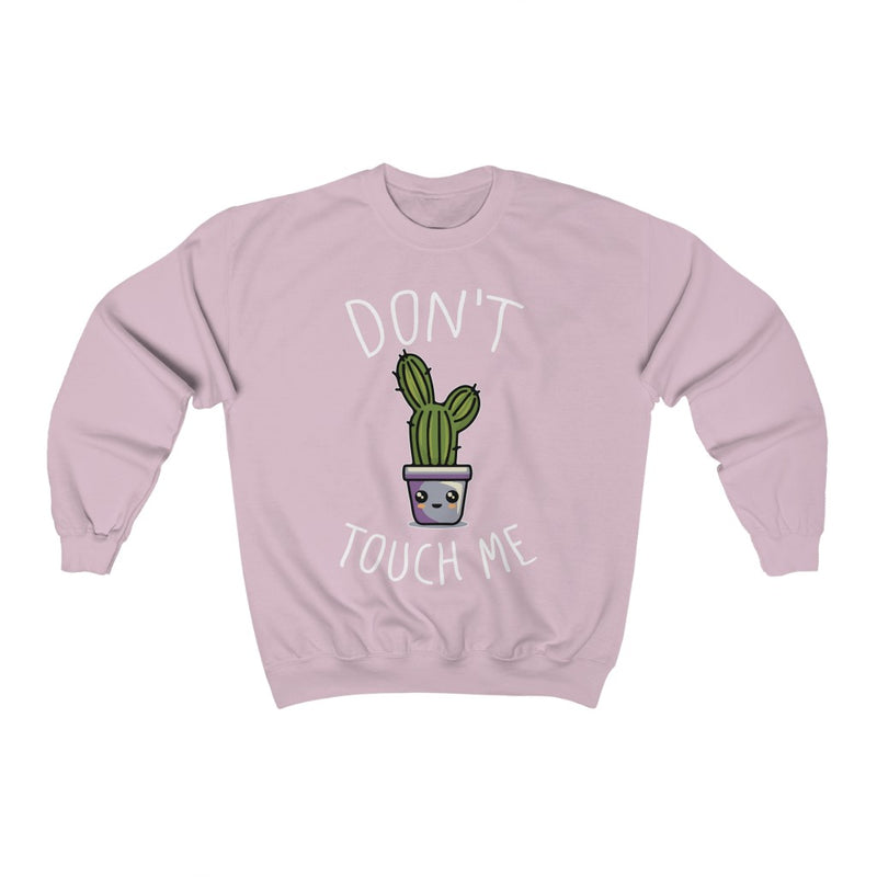 Light Pink Don't Touch Me Sweatshirt