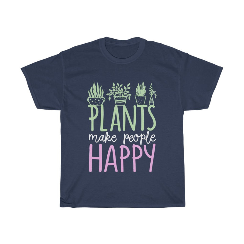 Navy Plants Make People Happy T-Shirt