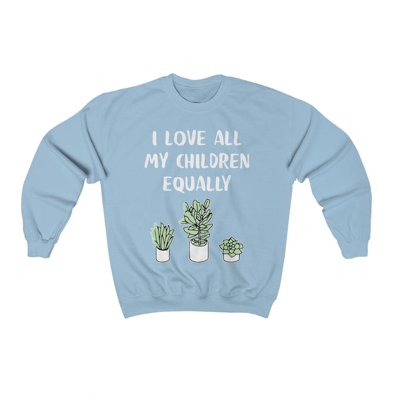 Light Blue I Love All My Children Equally Sweatshirt
