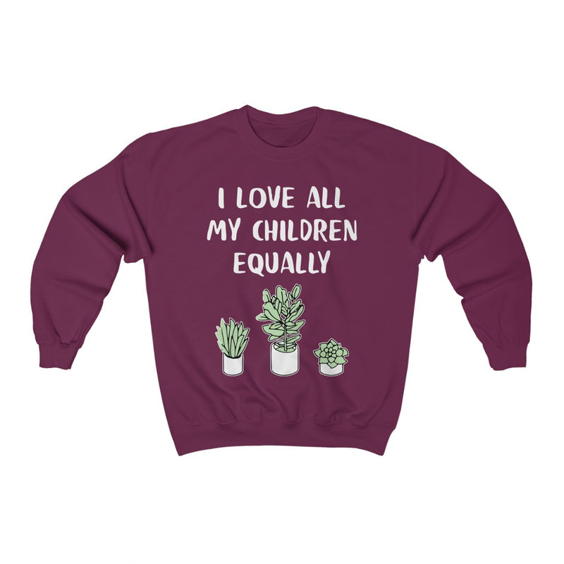 Maroon I Love All My Children Equally Sweatshirt