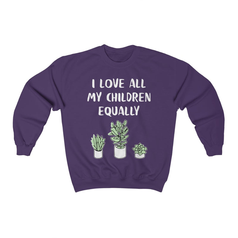 Purple I Love All My Children Equally Sweatshirt