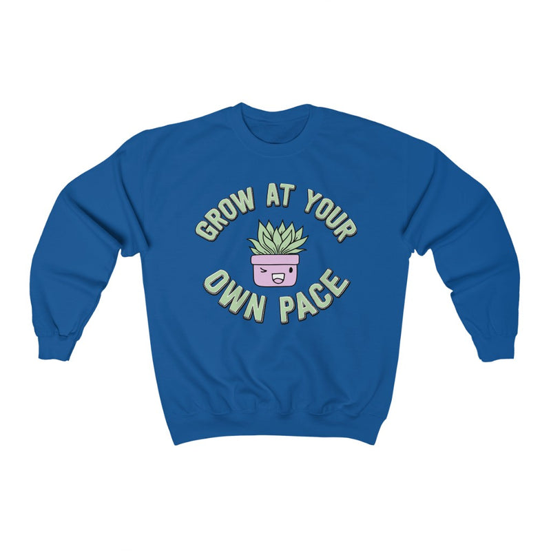 Royal Grow At Your Own Pace Sweatshirt