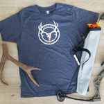 Next Level Boy's Tri-Blend Deer Skull Logo Tee