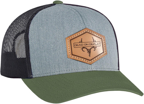 DEAD ON DISPLAY LOGO LEATHER PATCH HAT