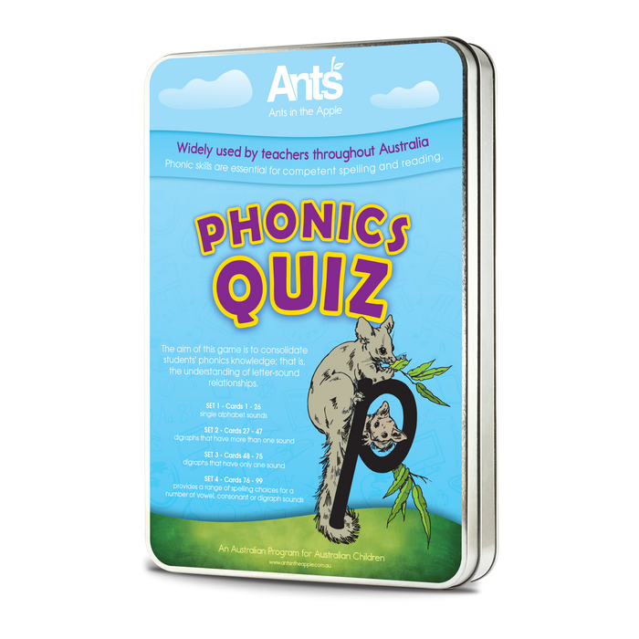 #18402 Phonics Quiz K-6 ( 98 x A6 size cards)