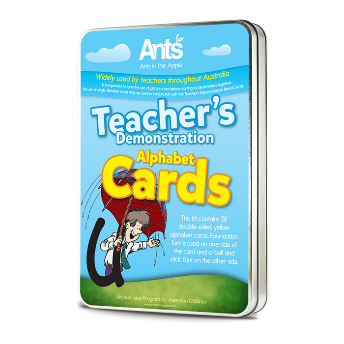 #18103 Teacher's Demonstration Alphabet Cards (26 cards, A5, double sided, Laminated)